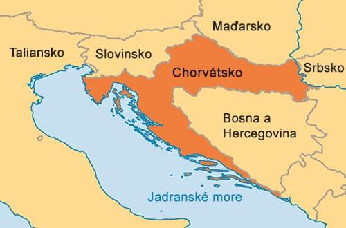 Chorvátsko na mape
