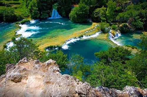 Vodopády Krka v Chorvátsku