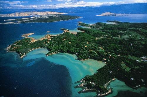 Ostrov Rab v Chorvátsku