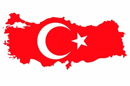 Mapa Turecka