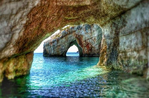 Grécko - modrá jaskyňa Zakynthos