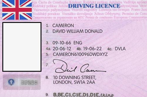 Anglický vodičský preukaz