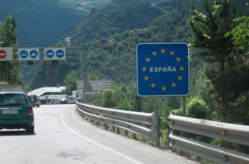 Hranica v Španielsku