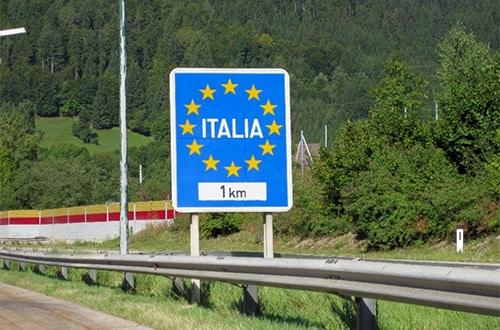 Cesta do Talianska - hranica
