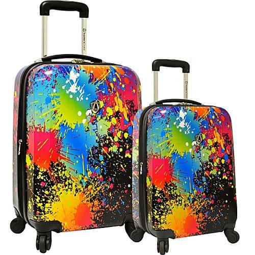 Farebný cestovný kufor
